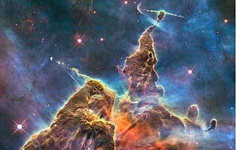 espacio, cielo estrellado