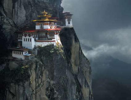Monasterio tibetano - energía yin