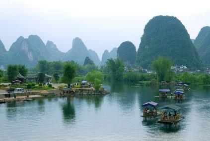 Montañas y agua - Naturaleza original